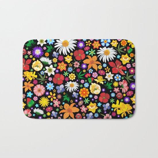 Spring Flowers Pattern Bath Mat