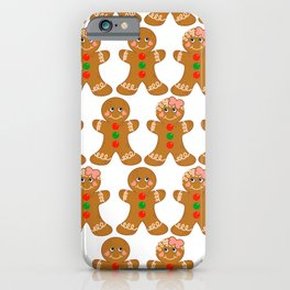 Gingerbread Couple Boy Girl iPhone Case