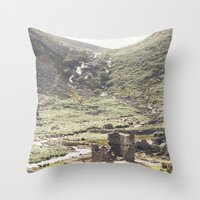 castle in the sky Throw Pillows featuring castle by ©YU by Jaesindesign