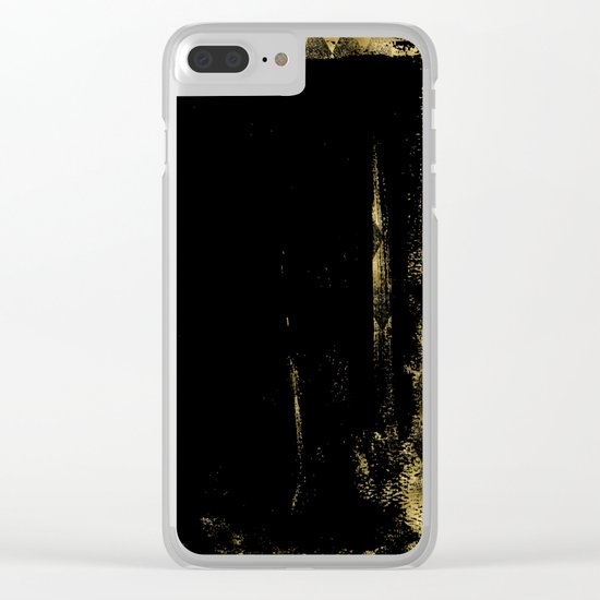 Black and Gold grunge modern abstract background I Clear iPhone Case