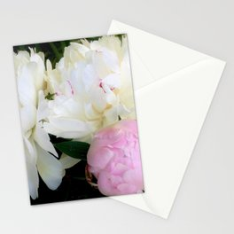 Peonies White & Pink Stationery Cards