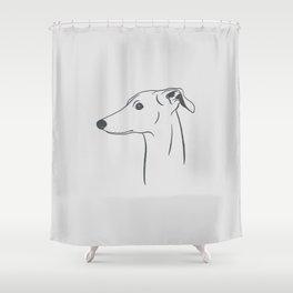 Italian Greyhound (Light Gray and Gray) Shower Curtain