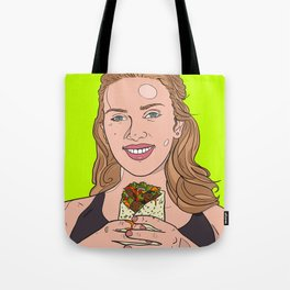 Scarlett Johansson with Burrito Tote Bag