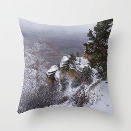 Snow on the South Rim Throw Pillow