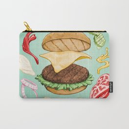 Burger Mandala Carry-All Pouch