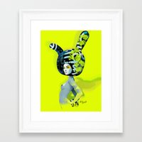 bunny Framed Art Prints featuring bunny by el brujo