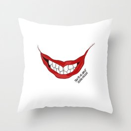 Talk to Me About Serial Killers Throw Pillow