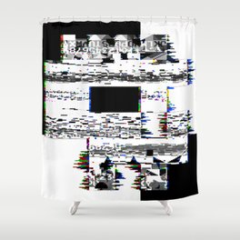 8-Bit Skull Shower Curtain