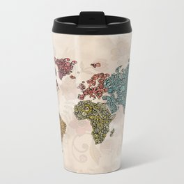 Paisley World Metal Travel Mug