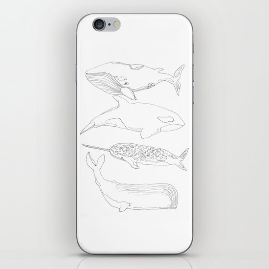 whale, i love you iPhone & iPod Skin