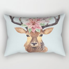 Winter Deer 2 Rectangular Pillow