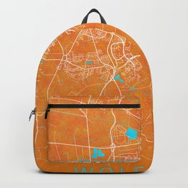 Wolfsburg, Germany, Gold, Blue, City, Map Backpack