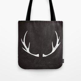 Chalkboard Art - Antlers Tote Bag