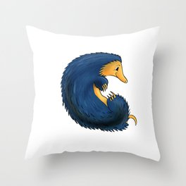c Is For . . . Porcupine In The Animal Alphabet Throw Pillow