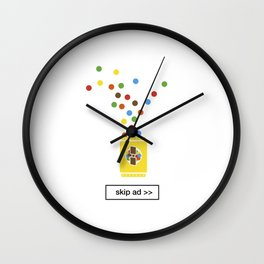 color chocolate ad Wall Clock