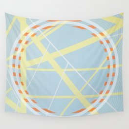 crossroads ll - orangle circle graphic Wall Tapestry