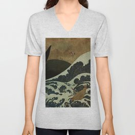 """Shipwreck from Sinbad the Sailor"" by Edmund Dulac Unisex V-Neck"