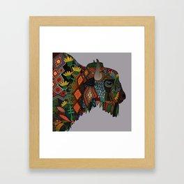 bison heather Framed Art Print