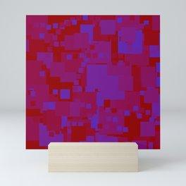 blue on red Mini Art Print