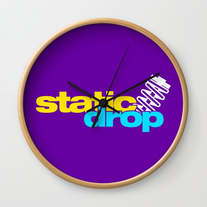 Static drop v3 HQvector Wall Clock