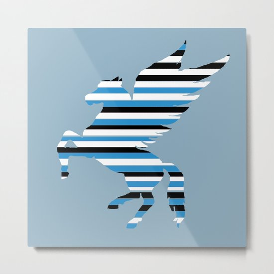 Pegasus Stripes 2 Metal Print