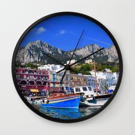 The Beach in Capri, Italy Wall Clock