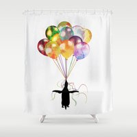 penguin Shower Curtains featuring Penguin by emegi