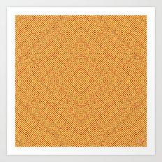 Bardarbunga Gold Art Print