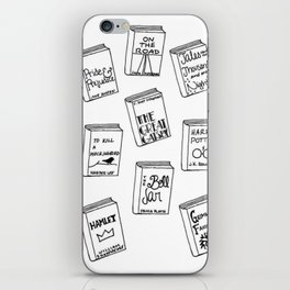 Bibliophilia (Titles) iPhone Skin