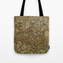 Vintage Limoges France Map (1895) Tote Bag