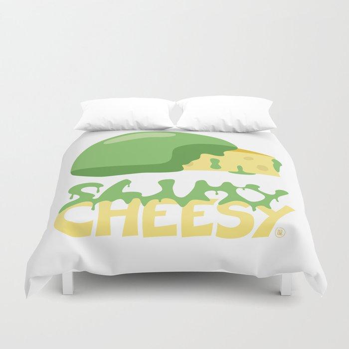 Slimy cheesy Duvet Cover
