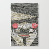 anonymous Canvas Prints featuring Anonymous by hopedso