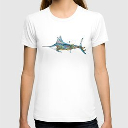 Colored Fisherman Marlin T-shirt