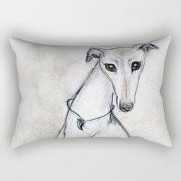 The Greyhound Wearing His Thorn Rectangular Pillow