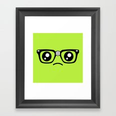 Sad little nerd. Framed Art Print