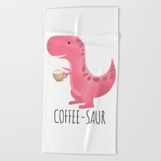 Coffee-saur | Pink Beach Towel