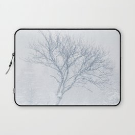 Lonely tree during snow storm in winter Laptop Sleeve