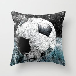 Modern soccer version 1 Throw Pillow