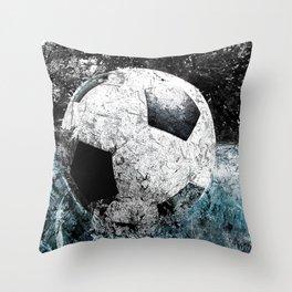 Modern soccer version 1 Throw Pillow