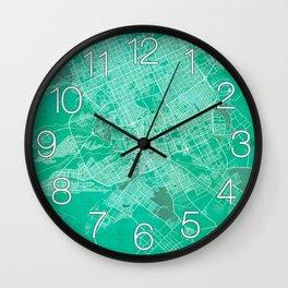 Riyadh City Map of Saudi Arabia - Watercolor Wall Clock