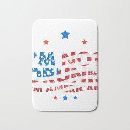 I'm not drunk i'm american 4th of july shirt Bath Mat