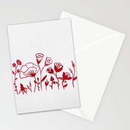 Little Red Flowers 4  Stationery Cards