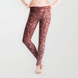 Blush Gold Rose Pink Shimmery Glitter Leggings