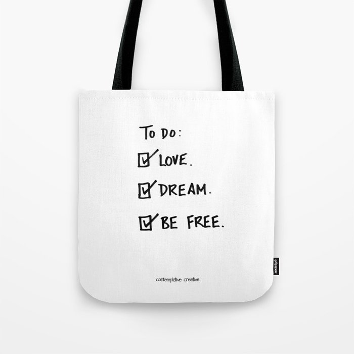 """A Daily To Do List - Design #4 of the """"Words To Live By"""" series Tote Bag"""