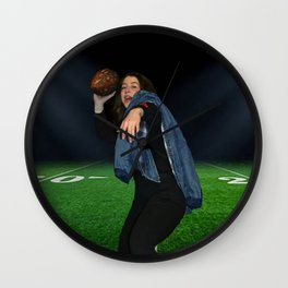 A Girl and a Football Wall Clock