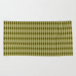 Sacramento Tower Bridge Golden Yellows pattern Beach Towel