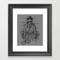 Magritte Noir Framed Art Print