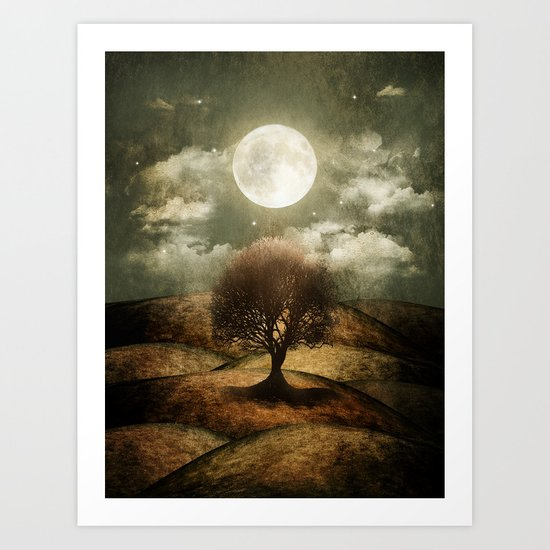 Once upon a time... The lone tree. Art Print