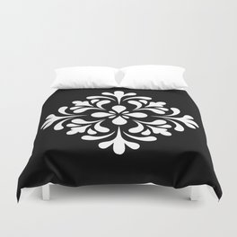 Black and white lace Duvet Cover
