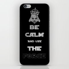 Be Calm and Use The Force iPhone & iPod Skin